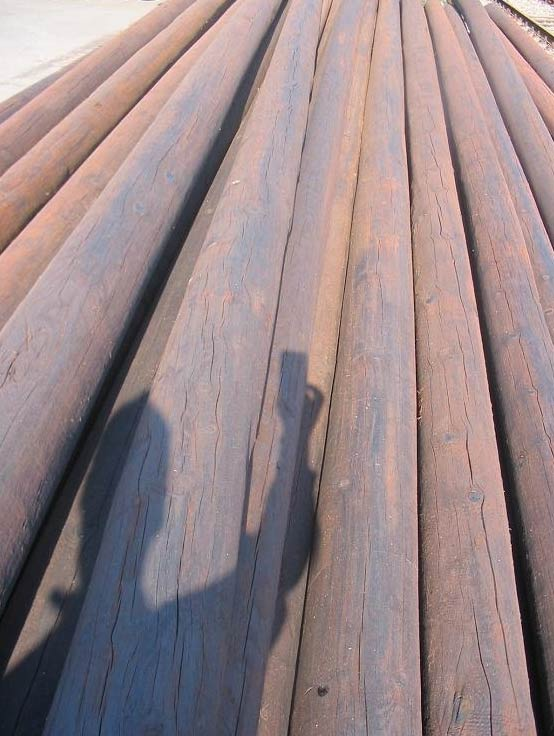 Reclaimed Telegraph poles - Telegraph poles - recycled BT
